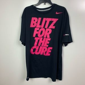Nike football breast cancer shirt men's large